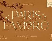 The Paris Lamore Duo Typeface + LOGO