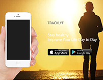 Tracklyf-Health Tracker App Display Webpage Layout