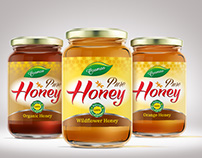 Honey Jar Label Design