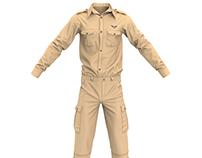Marvelous Designer Officer Uniform