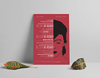 David bowie - Heroes Typography Lyrics Poster