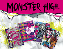 Cadernos e agendas Monster High para a Tilibra