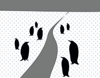 Rodzina pingwina idzie do kina