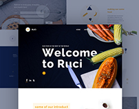 Ruci Food service Website concept