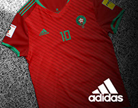 Moroccan adidas kits for RUSSIA 2018
