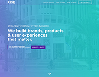 RISE Inc // Web Design