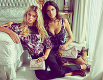 Megan Irwin & Bojana Krsmanovic for 2016 GUESS Holiday