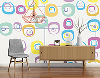 Mid-Century Wall Murals by PIXERS