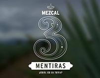 MEZCAL 3 MENTIRAS | DISEÑO DE LOGOTIPO