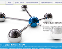 Micrositio Circulo de proveedores