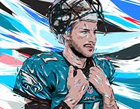 Adobe DRAW : NFL series - Carson Wentz