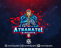 Athanatoi Sports Logo , Knight Mascot Logo E-Sports