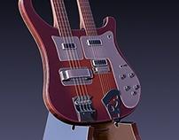 Dual Rickenbacker Electric Bass / Guitar Combo