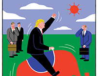 'How the Donald Came to Rule' - Raúl Soria for Jacobin