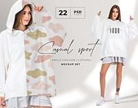 Oversize hoodie mockup set