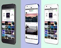 Memory Sharing UI/UX App Design