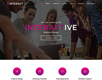 Interact   Responsive Multipurpose Bootstrap Template