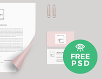 Corporate Inedtity Mockup / Free PSD