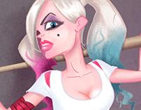 Pin-up Harley Quinn