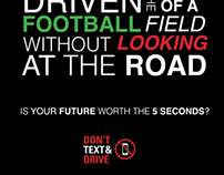 Don't Text and Drive PSA Poster