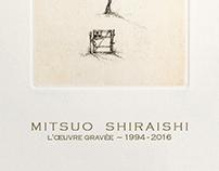 Carton d'invitation Mitsuo Shiraishi