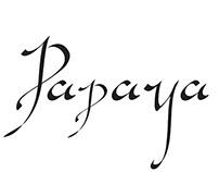 papaya lettering