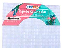 Design embalagem para tapete retangular