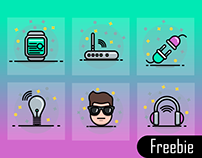 Free Vector internet of things icons