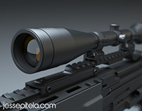 Photorealistic Weapon Product 3D Visualization