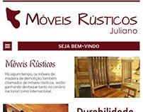 Protótipo de site versão mobile para empresa de Móveis