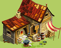 Goodgame Empire, Charadesign/Building Vector Art test