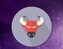 Zodiac signs-Flat Icons