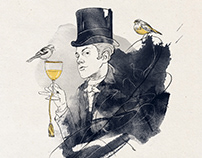 Illustrations for Cafe Pushkin Moscow