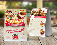Restaurant Table Tent Template Vol.12
