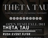 Theta Tau | Rush Flyer