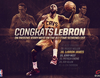 LeBron Passes Jerry West