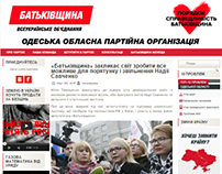 Website of a political party