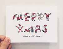 Christmas Card | Illustration | 活力聖誕老公公插畫