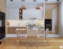Fashionable kitchen for a young family