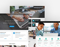 WordPress company theme for computer services