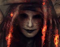 Demon in fire