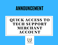 Quick access to Tech Support Merchant Account