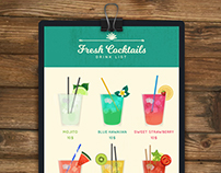 Fresh Cocktails List - Vector Free for Freepik