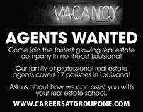 Real Estate Recruiting B/W ad