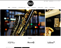 Home Page Layout for Bach
