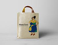 Mama Cita restaurant illustration branding