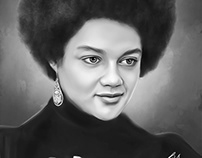 Kathleen Cleaver Digital Art by Wayne Flint