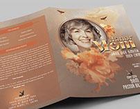 Honor Mom Funeral Program Booklet Template