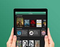 Ebook Concept app Ui design XD Challenge