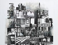 2018 08 24 | Barrio - 30 x 45 cm mixta sobre papel